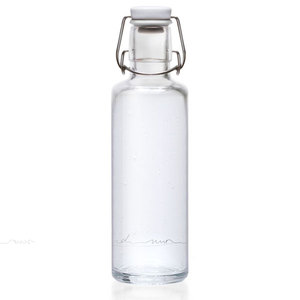 Soulbottle 'Einfach nur Wasser' - Trinkflasche aus Glas - soulbottles