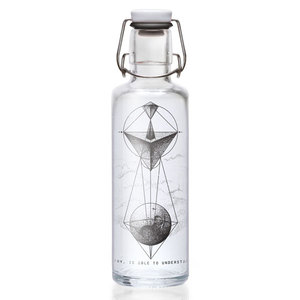 Soulbottle 'WHOEVER UNDERSTANDS GEOMETRY' - Trinkflasche aus Glas - soulbottles