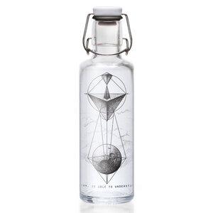 Soulbottle 'WHOEVER UNDERSTANDS GEOMETRY' - Trinkflasche aus Glas - soulbottles