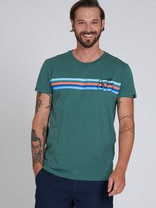 recolution Herren T-Shirt Bikestripes reine Bio-Baumwolle - recolution
