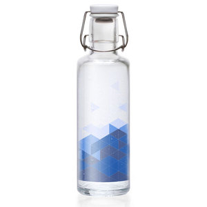 Soulbottle 'Into the blue blue Sea' - Trinkflasche aus Glas - soulbottles