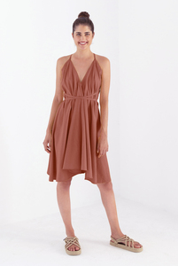 Kleid Midi Einheitsgröße - Multiposition Dress Short - Bio-Baumwolle & Leinen  - Suite 13