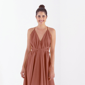 Kleid Maxi Einheitsgröße - Multiposition Dress Long - Bio-Baumwolle & Leinen  - Suite 13
