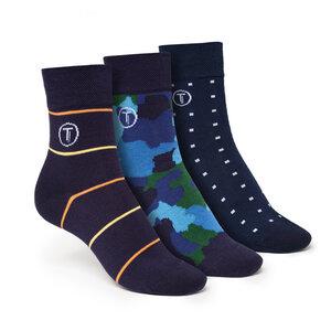 ThokkThokk 3er Pack Mid-Top Socken Camo/Cube/Stripe - ThokkThokk