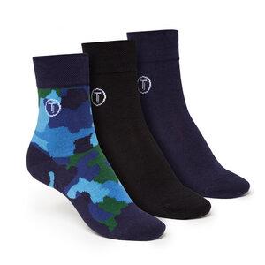 ThokkThokk 3er Pack Mid-Top Socken Camo/Black/Blue - THOKKTHOKK
