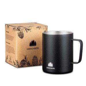 Edelstahl -Tasse 350 ml | Doppelwandige Kaffeetasse - GROENENBERG