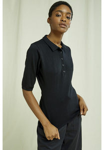 Isla Polo Top In Black - People Tree
