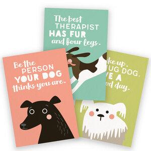 3er-Set Postkarten für Hundefans - käselotti