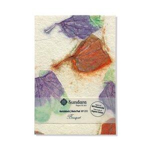 "Notizblock ""Bouquet"" aus handgeschöpftem Recycling Biobaumwoll-Papier - Sundara"
