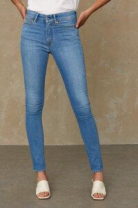 Slim-Fit Jeans aus Recycling und Bio Baumwolle - Juno High - Veggie Light - Kings Of Indigo