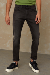Slim-Fit Jeans aus Bio Baumwolle - Charles - Gorbi Black Faded - Kings Of Indigo