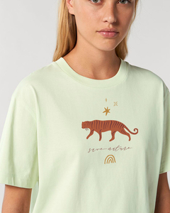 Reine weiche Bio-Baumwolle - Unisex Shirt / Tiger Rainbow - Kultgut