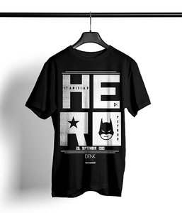 Hero Shirt Herren 'black' - DENK.MAL Clothing