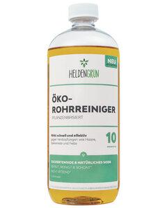 Öko Rohrreiniger [BIO POWER-FORMEL] - 100% pflanzenbasiert & schonend - Abflussreiniger gegen Verstopfungen & Haare - Abflussfrei 1000 ml - Heldengrün