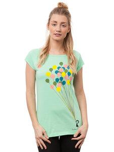 Damen T-Shirt Balloons Girl Bio Fair - FellHerz