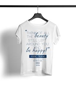 Anne Frank Shirt Damen 'white' - DENK.MAL Clothing