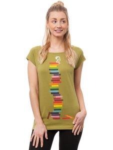 Damen T-Shirt Books Girl Bio Fair - FellHerz