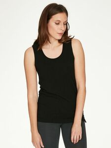 Bamboo Base Layer Singlet-Black - Thought