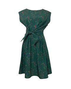 Damen Sommerkleid aus Bio-Baumwolle mit floralem Muster - Skrabak