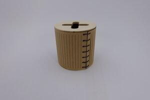 Büchse aus Holz mit abnehmbarem Deckel - SPIELZ