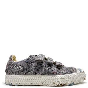 """Veganer Sneaker """"nat-2 Mover Low Velcro"""" grey aus recycelten Fashion Textilien, Cord, Kork und Zuckerrohr MEN - nat-2"""