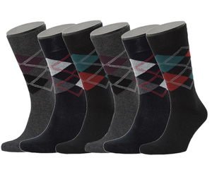6er Set Argyle Pattern Bio-Baumwolle Socken - Opi & Max