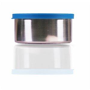 Große runde Edelstahlbox 450ml blau  - Made Sustained