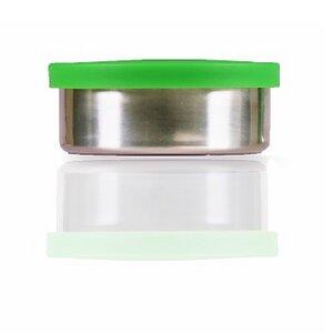 kleine runde Edelstahlbox grün 150ml - Made Sustained