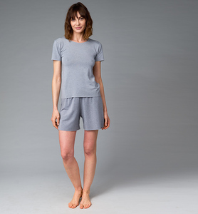 Kurzer Damenschlafanzug aus ökologischer Pflanzenfaser - CasaGIN