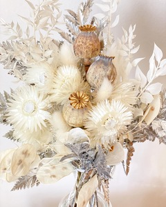 Trockenblumenstrauß Silber, Weiß - Blooms 'n' Stories