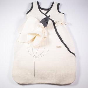 Schlafsack + Schmusewichtel im Set aus Leinen-Waffelpiquée , Sommer - nahtur-design