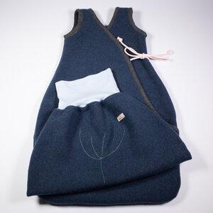 Baby und Kinder Schlafsack + Strampelsack im Set aus Flauschloden, 100% Merinoschurwolle, mulesingfrei - nahtur-design