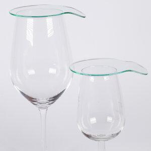 Glasdeckel 2er Set , Abdeckung für Gläser aus bruchfestem Glas - vinox