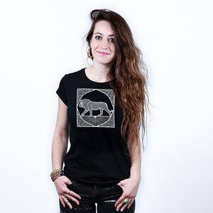 Ornate Lion - Printshirt Frauen aus Bio-Baumwolle - Coromandel