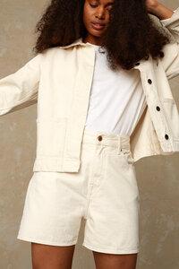 """Damen Shorts """"ALICE"""" aus ungefärbtem Denim aus Biobaumwolle von KINGS OF INDIGO - Kings Of Indigo"""