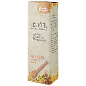 Essbare Löffel Magic Masala, 6er-Set - CONTIGO Fairtrade