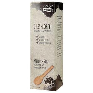 Essbare Löffel Pfeffer+Salz, 6er-Set - CONTIGO Fairtrade
