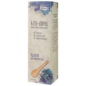 Essbare Löffel Salz, 6er-Set - CONTIGO Fairtrade