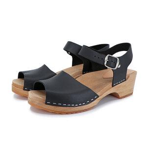 MILA - schwedische Holz Clogs Sandale von me&myclogs - low heel - me&myClogs