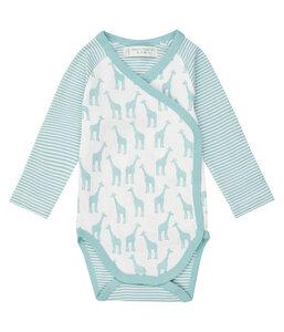 Baby Wickelbody Langarm *Giraffe* I GOTS & Fair Trade I Sense Organics - sense-organics