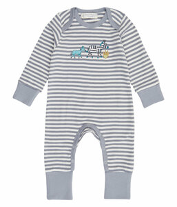Baby Schlafanzug/- overall *Zebra* GOTS & Fair Trade | Sense Organics - sense-organics