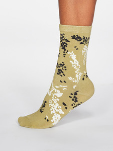 Damen Baumwollsocken Orpha Floral - Thought