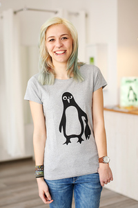Pinguin Paul - Fair Wear Shirt - Grau - päfjes