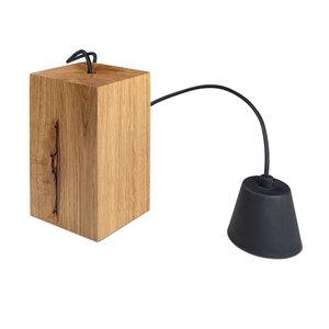 Hängelampe Holz Eiche Massivholz 12x12x20 cm Lampe Pendellampe - GreenHaus