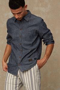 "Klassisches, Hemd ""Enda Pocket"" aus Bio-Baumwolle in Chambray-Bindung, chambray - Kings Of Indigo"