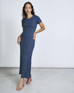 Kleid VRONI gerippt aus 100% Bio-Baumwolle - JAN N JUNE