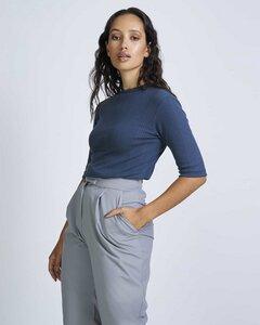T-Shirt NINA gerippt aus 100% Bio-Baumwolle - JAN N JUNE