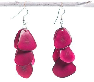 Bunte Tagua Chips Ohrring - Bea Mely