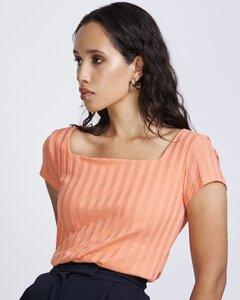 T-Shirt ARIMA gerippt aus 100% Bio-Baumwolle - JAN N JUNE