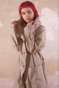 CAMPANULA Trenchcoat aus recyceltem Polyester (transparent) - RAFFAUF - Urban Outdoor Apparel